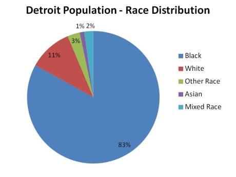 Detroit Population Trend - Race