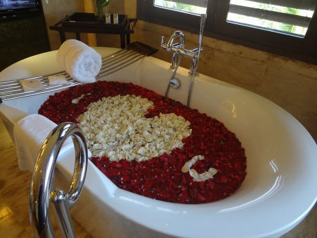You get this when you book a honeymoon suite.