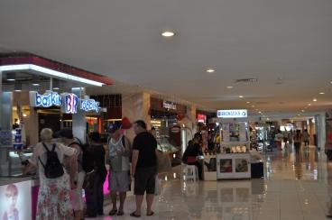 A local shopping center. Small.