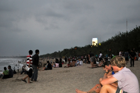 Kuta beach is a popular place for tourists and locals alike.