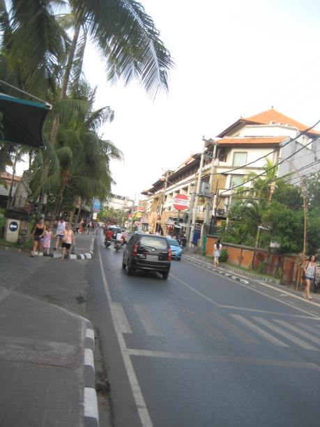 This is the busiest street in Bali.