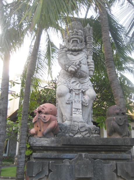 A statute in a park.