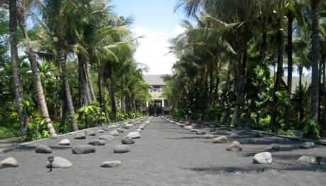 Sand and rocks.