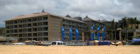 Another hotel under construction just east of St. Regis. The blue things are statues.