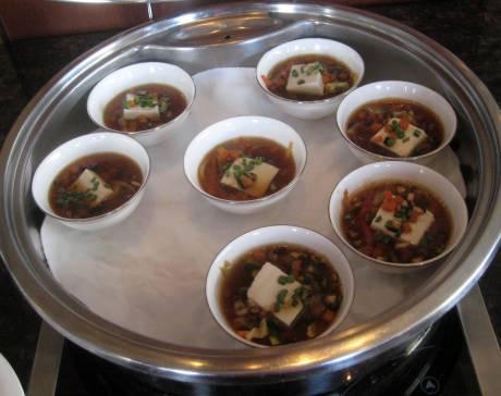 Tofu soup Japanese style.
