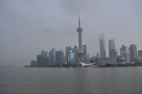 Looking east From the Bund。