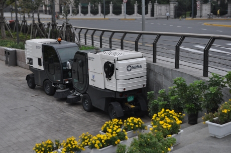 Shanghai government uses these to clean the promenade at The Bund