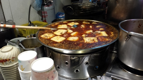 This is stinky tofu as well: stewed instead of deep fried. This kind of 臭豆腐 is too much for me I only like the deep fried kind。