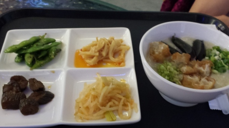 稀饭和小菜。