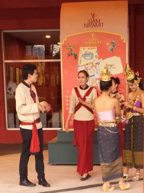 Host and hostesses at Siam Niramit.