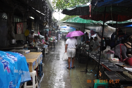 Open markets are everywhere in Bangkok. They were usually crowded and not very clean.