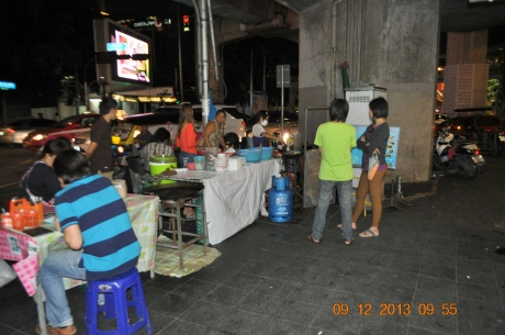 Another food vendor we came across at night market. Very busy with locals.