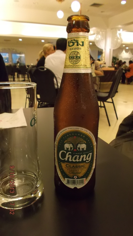Thai beer is on my money.