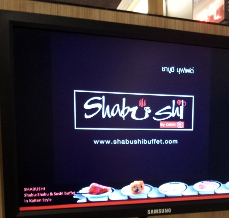 Shabushi buffet offered by Oishi. It has multiple stores in Bangkok.
