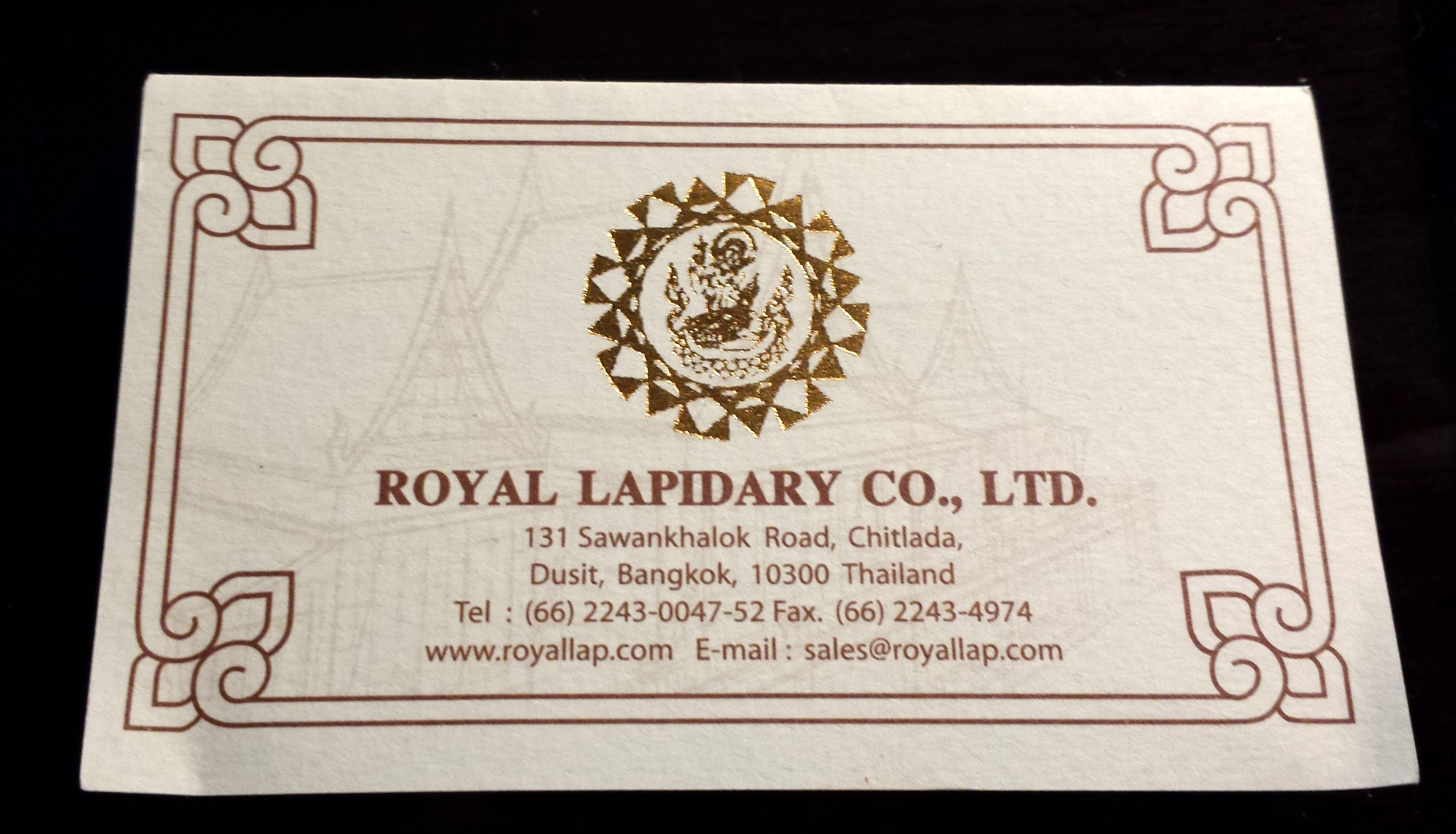 Royal cemetery bangkok xiaohua royal lapidary business card reheart Image collections