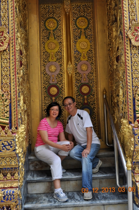 How would you like this for your front door to your house? Thailand's king really lived like a king.