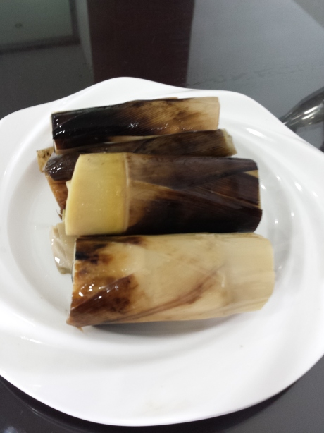 "The name of this dish  is called ""手剥笋。"" Did you get it? You are supposed to use your hands to peel off the skins on the outside. Needless to say I was surprised. First time for me. Not the best bamboo shoots though."