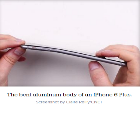 bent iPhone6 plus
