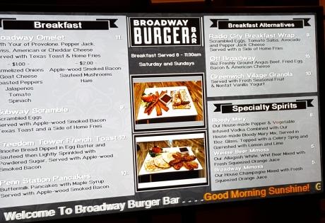 Burgers, Burgers and more burgers.