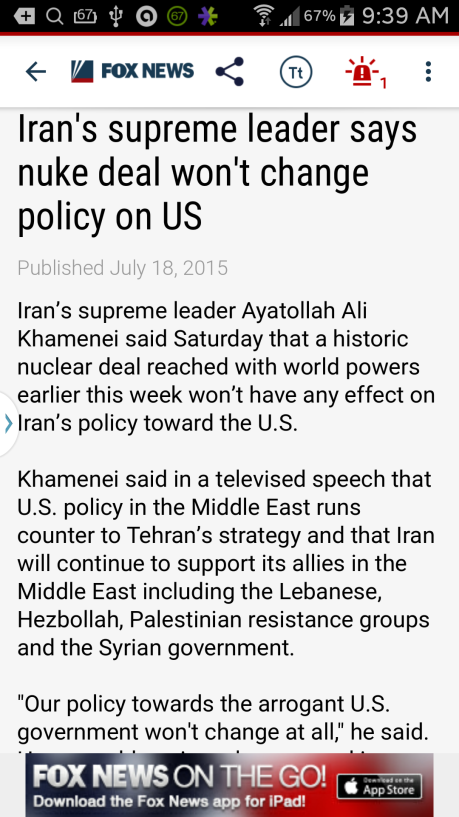 Obama wants a deal with Iran. He got a great one from Ayatollah Ali Khamenei.