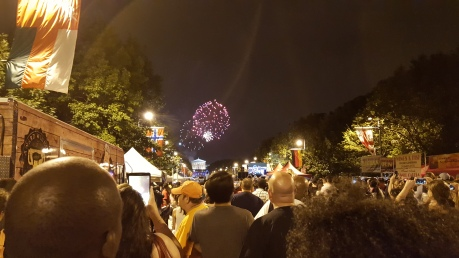 Most fireworks were like this one at 11:25 PM.