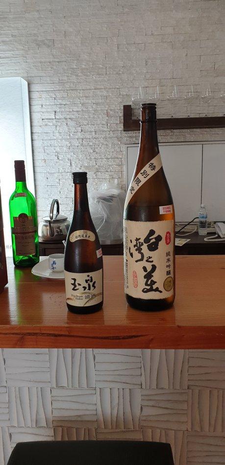 最普通的清酒臺灣之美是高級清酒。都是林口酒廠的產品。